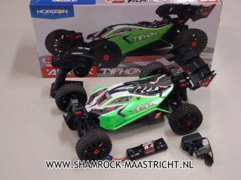 Arrma Occasie 1/8 TYPHON MEGA 550 Brushed 4WD Speed Buggy RTR Int, Green